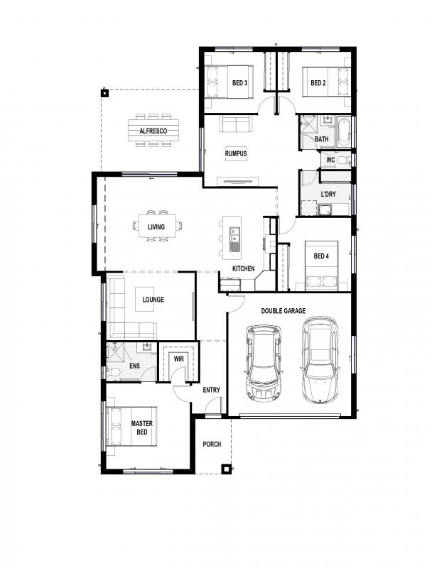 Blue Outlook 25 Floorplan