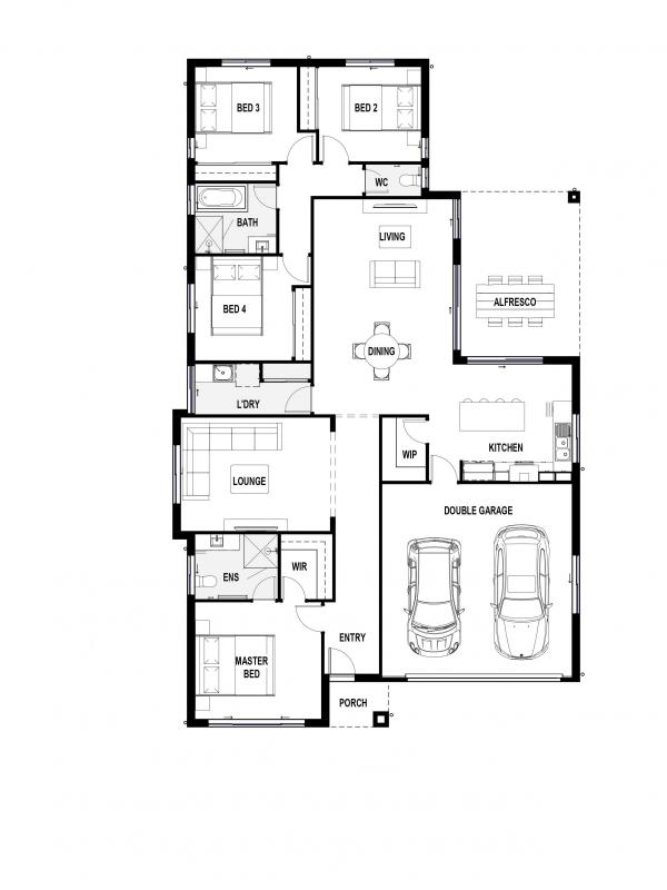 Blue Savannah 25 Floorplan