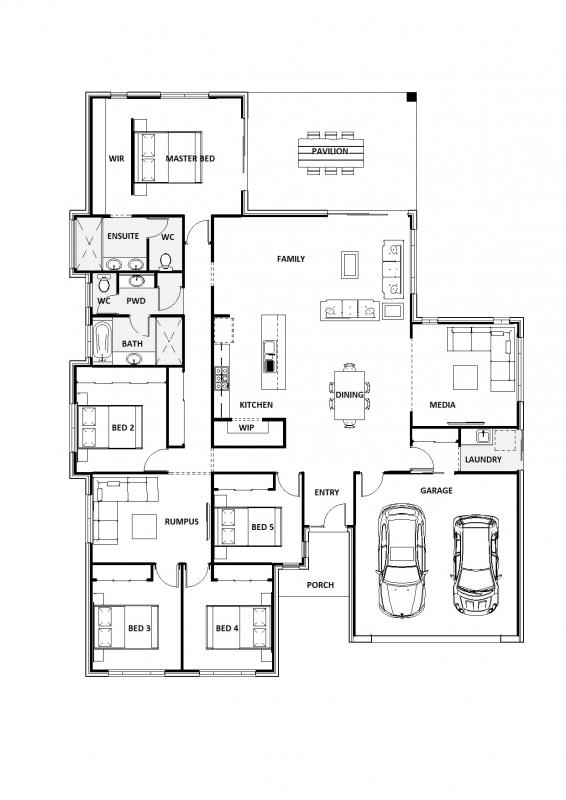 Blue Wattle 33 Floorplan