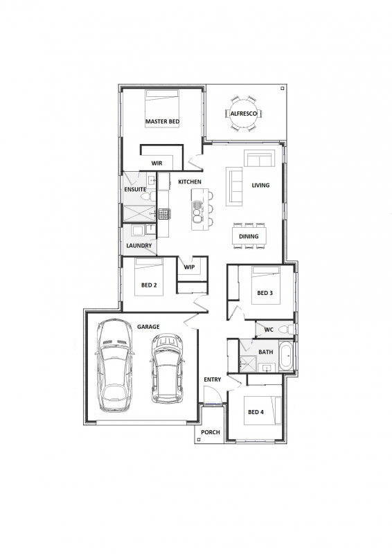 Blue Elkhorn 20 Floorplan