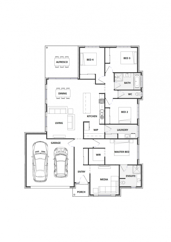 Blue Gravillea 25 Floorplan