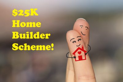 Home Builder Scheme eligible owner occupiers image of two crossed fingers representing a husband and wife hugging after purchasing their new home