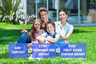 Home builders offering $0k deposit for new home builders special