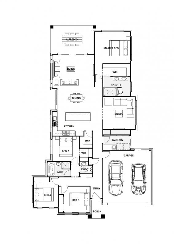Blue Moondarra 27 Floorplan