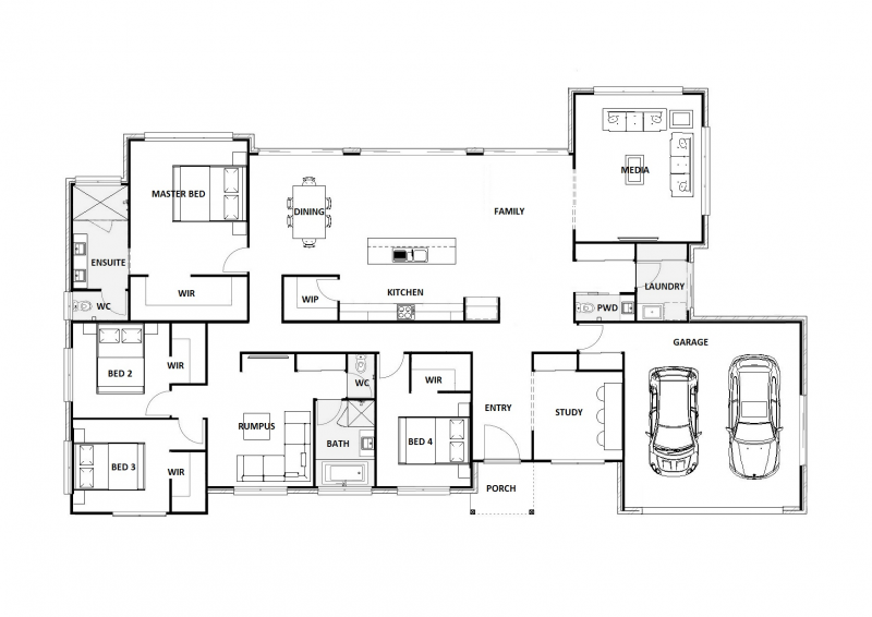 Blue Rodeo 31 Floorplan