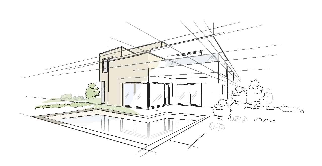 Best home builders Bluewood homes are a custom home builder presenting sketch plan of custom home design